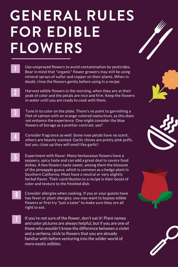 General Rules For Edible Flowers