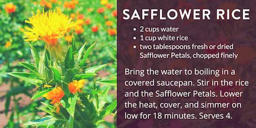 Safflower Rice Recipe