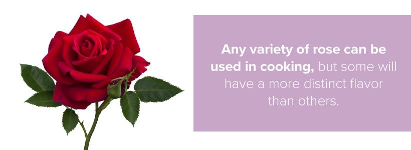 rose varieties in cooking