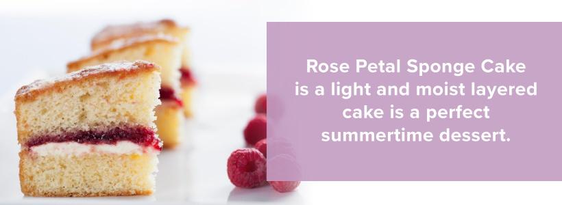 rose petal sponge cake