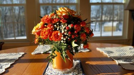 Floral Centerpiece In Sunlight