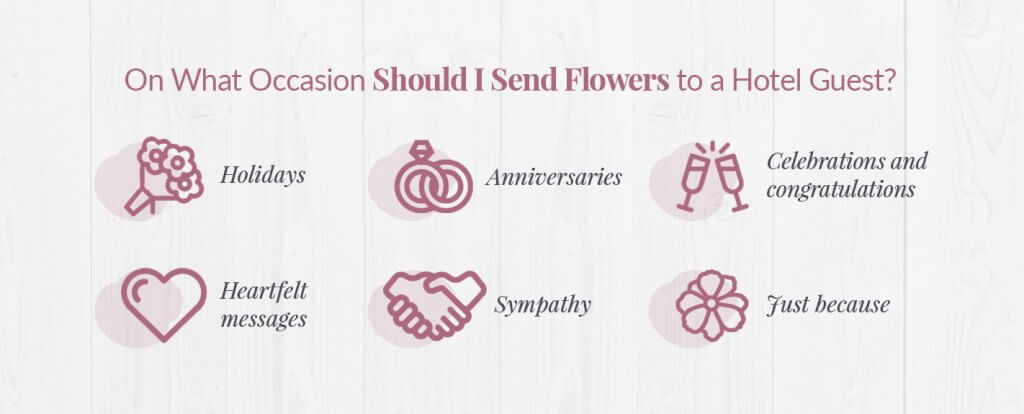 occasions to send flowers to a hotel