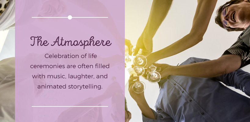 celebration of life atmosphere
