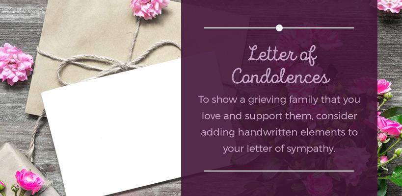 letter of condolences