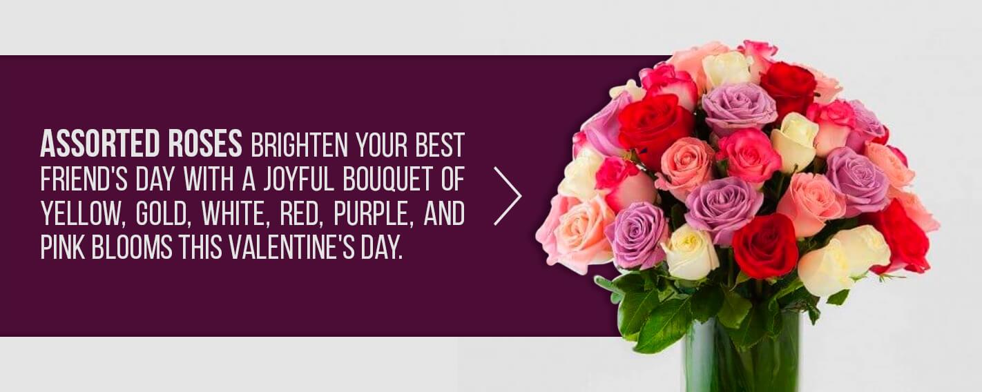 assorted valentine bouquet