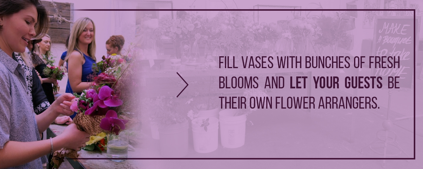 build your own bouquet station