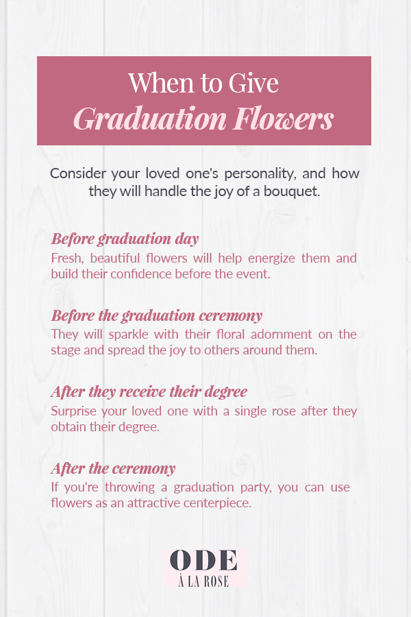 when to give graduation flowers