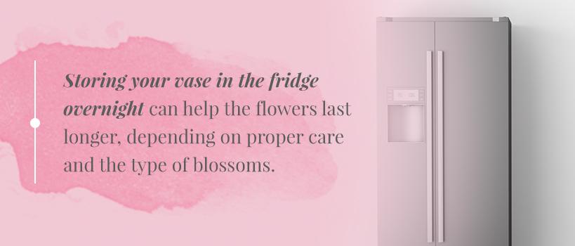 how long do flowers last in the fridge