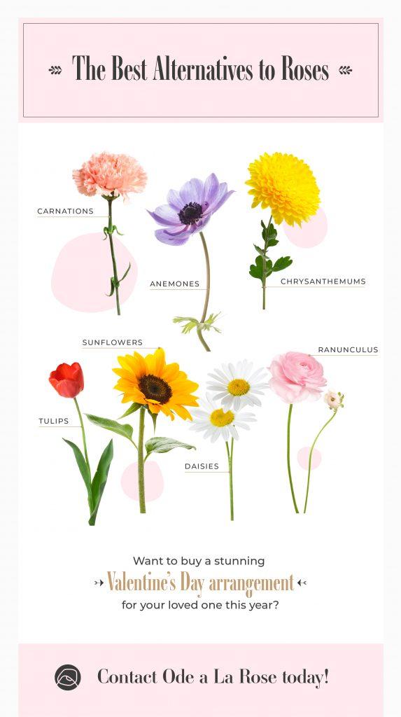 alternatives to roses