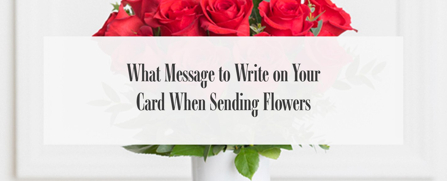 message to write with flowers